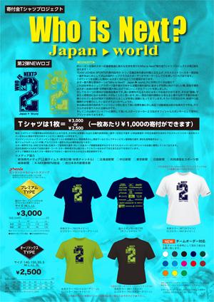 寄付金Tシャツプロジェクト Who is Next? 2nd