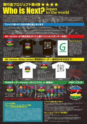 寄付金Tシャツプロジェクト Who is Next? 4th